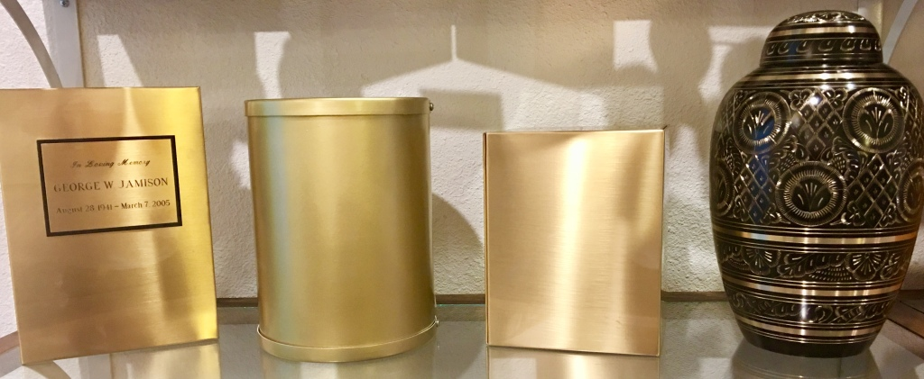 Sheet Bronze and Brass & Gold Urns