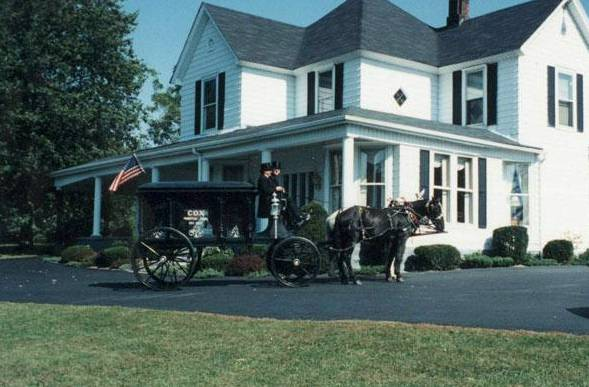 The Original 1907 Horse Drawn Hearse at Cox Funeral Home