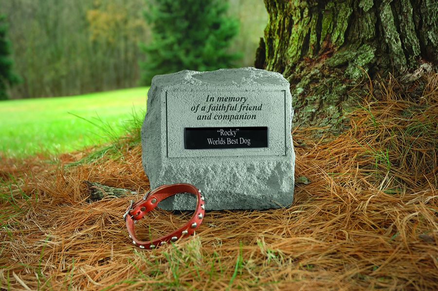 Memorial Stone with Urn