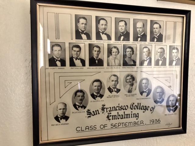 Leonard Francis Duggan, Sr. mortuary college photographs.