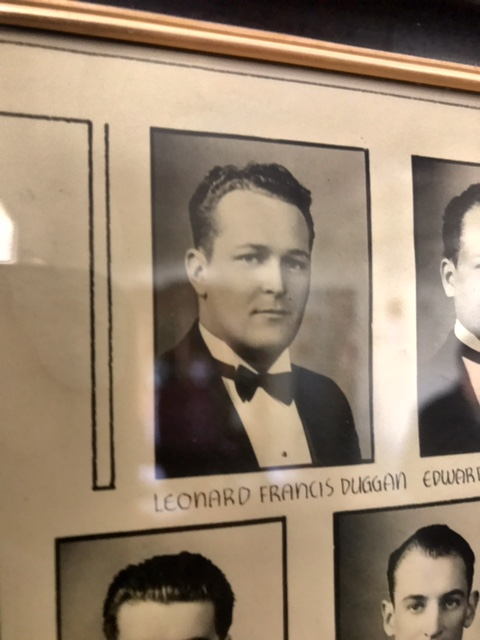 Leonard Francis Duggan, Sr. mortuary college portrait.