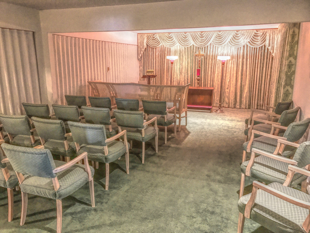Our secondary chapel-parlor for more intimate gatherings.