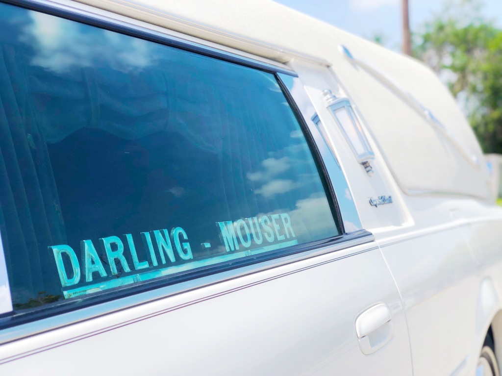 Hearse at Darling-Mouser Funeral Home