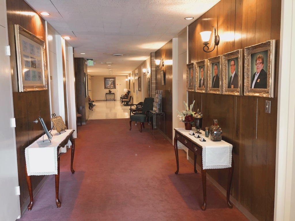 Hallway at Darling-Mouser Funeral Home