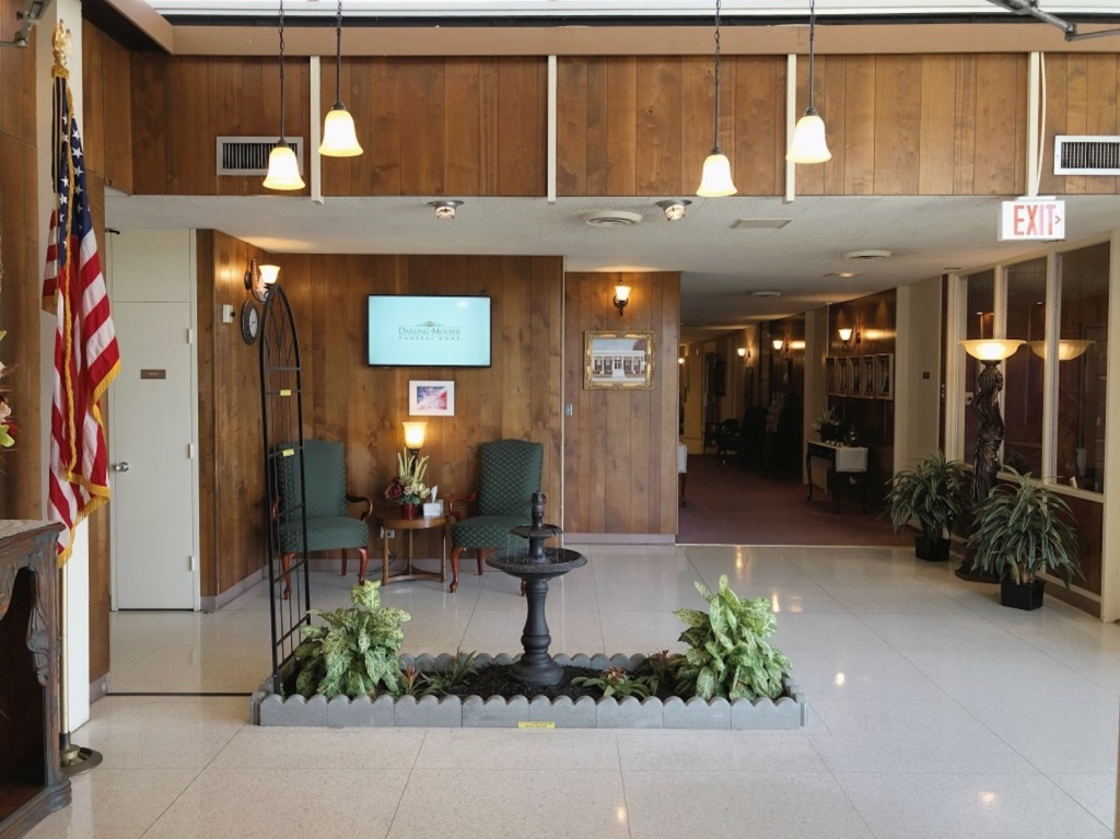 Lobby at Darling-Mouser Funeral Home