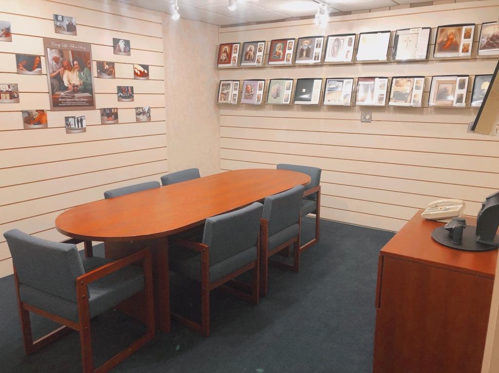 West Arrangement Office at Darling-Mouser Funeral Home