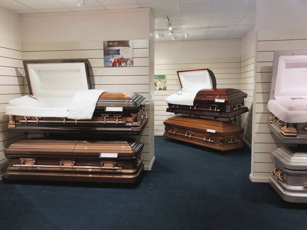 Selection Room at Darling-Mouser Funeral Home