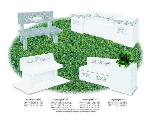 Benches, Ledgers & Mausoleum's