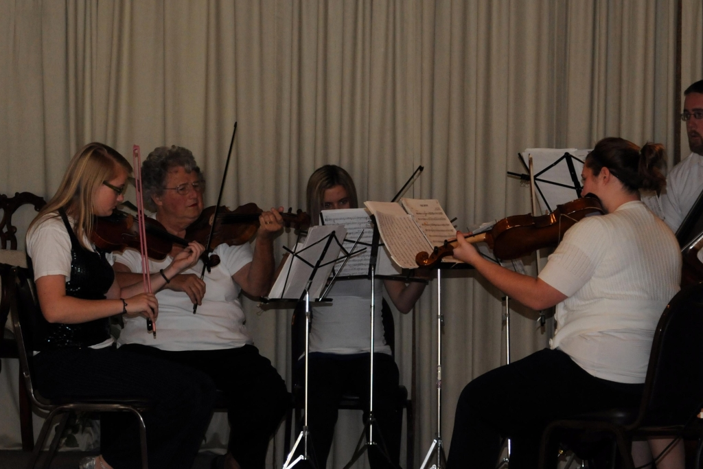 Music was presented by the Chillicothe High School String Ensemble