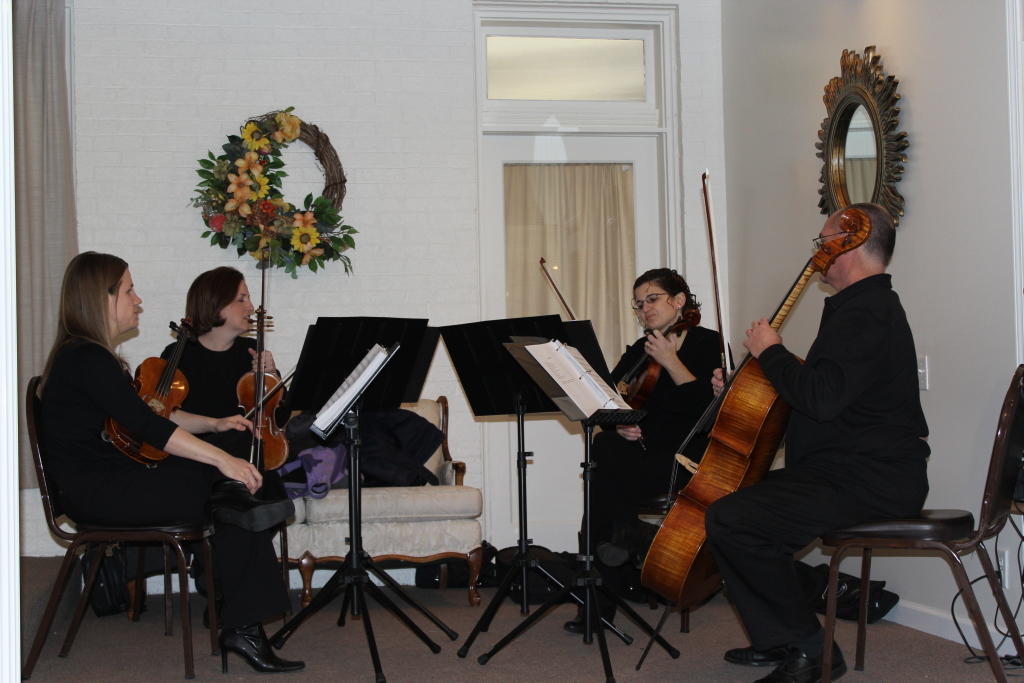 Music was provided by the Columbus String Quartet