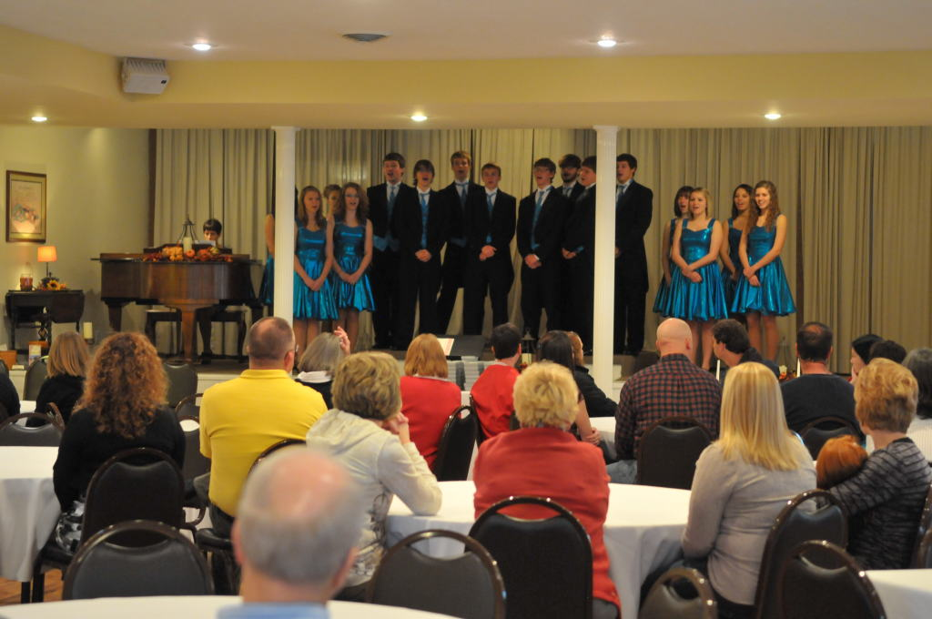 Music was presented by the McClain High School Show Choir of Greenfield