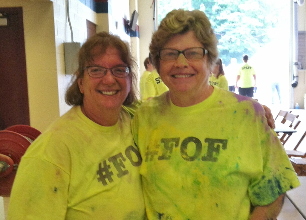 Mary Beth & Dar Sargent Volunteer for Color Run supporting A.F. Dobler Hose
