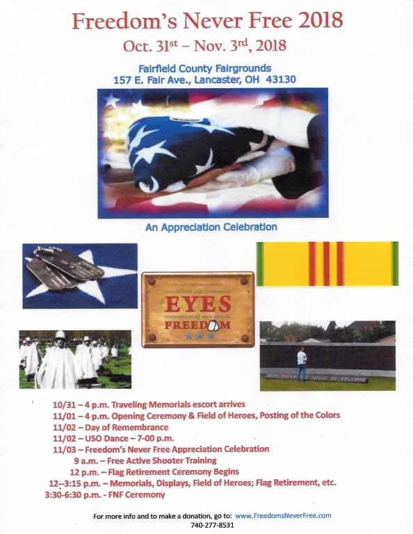 Egan-Ryan Funeral Home, Co-Sponsor of Freedom's Never Free 2018