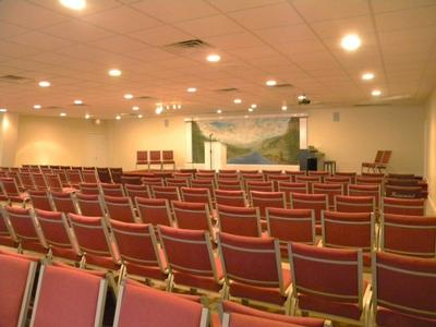 Memorial Chapel - Provides comfortable seating of up to 220 people.