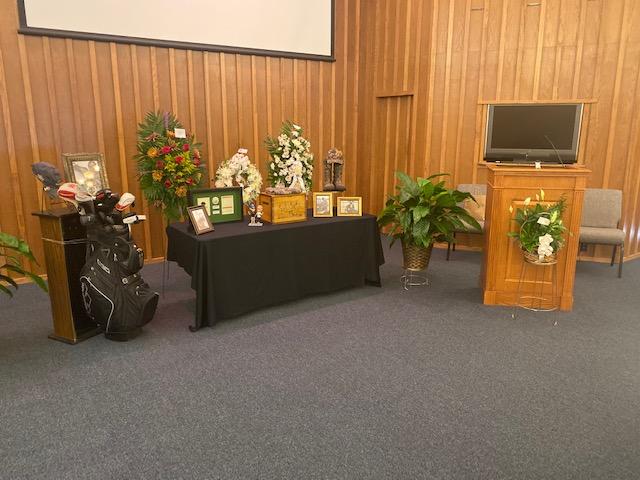Memorial Service for a Golfer