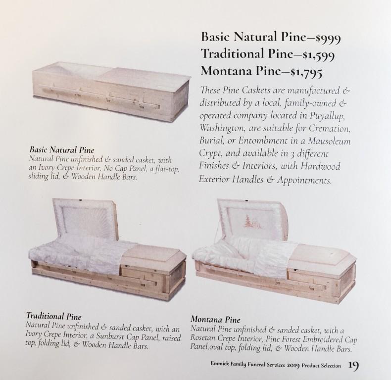 Puyallup Casket Company - Pine Caskets