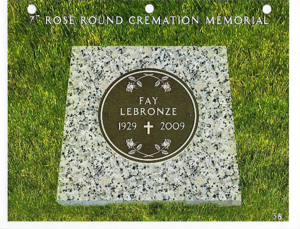 7 Round Bronze Cremorial