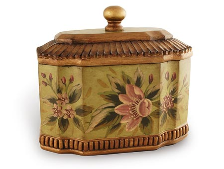 Green Floral Decorative Urn