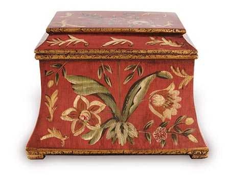 Red Floral Decorative Urn