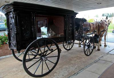 Horse and buggy made available for any service at our funeral home