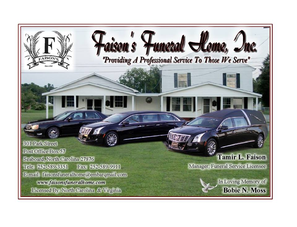 Formerly Faison's Funeral Home, Inc.