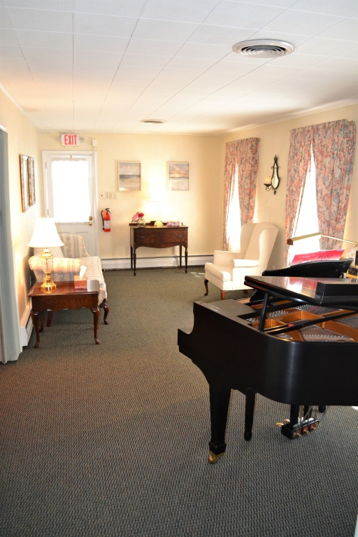 Private Family Area with Baby Grand Piano