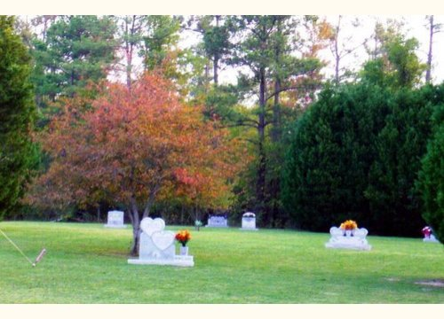 Garden of Devotion - upright memorial section
