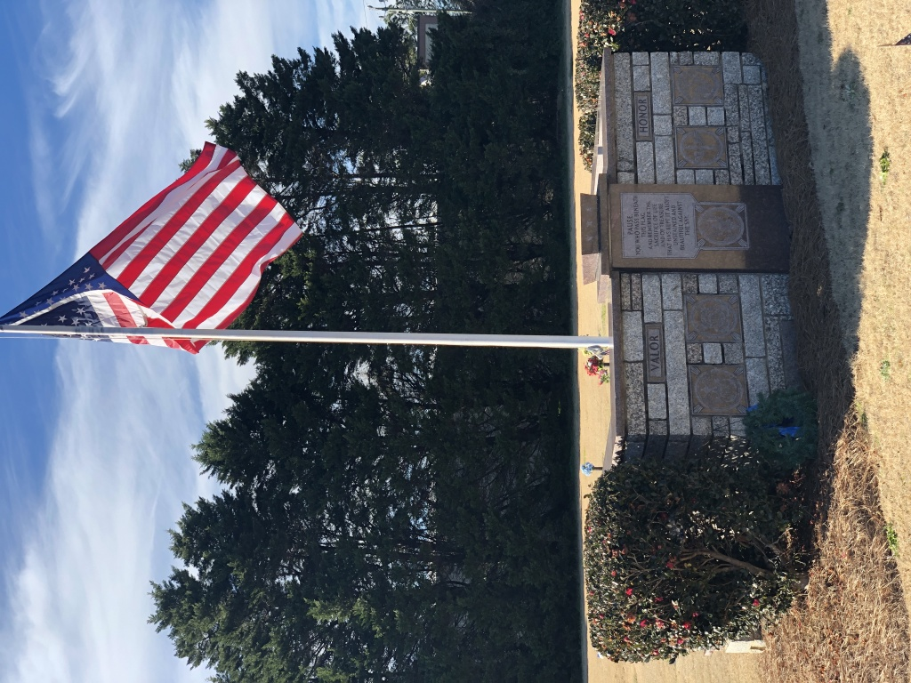 Garden of Flags -              Veteran section