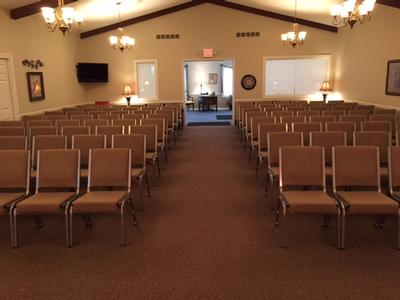 Gathering Area / Chapel prepared for a Service