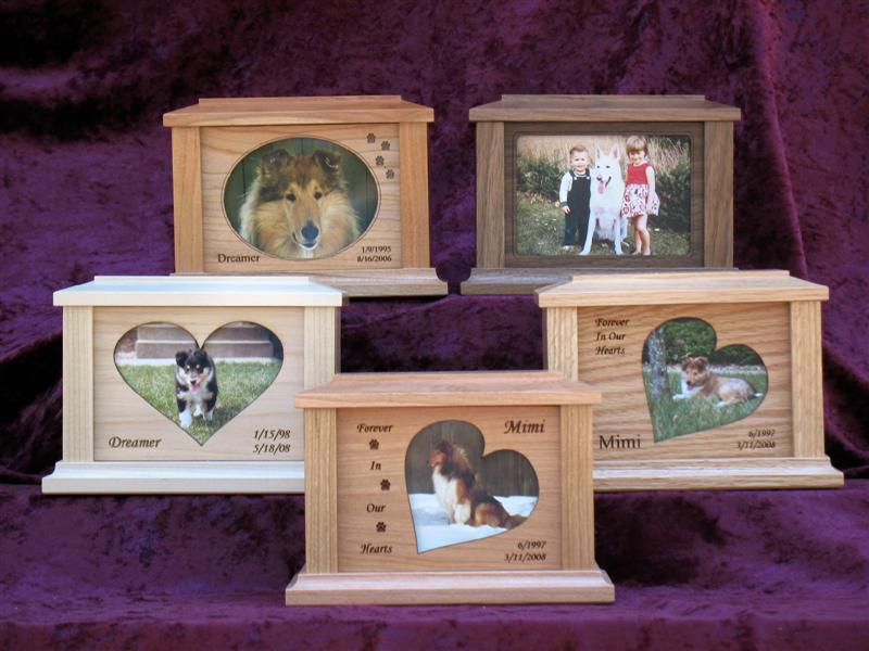 Solid Wood Photo Urns