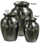 Brass Slate Paw Print Urns
