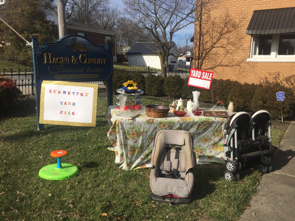 Do you like yard sales  We can stage a mock yard sale if this is your passion!