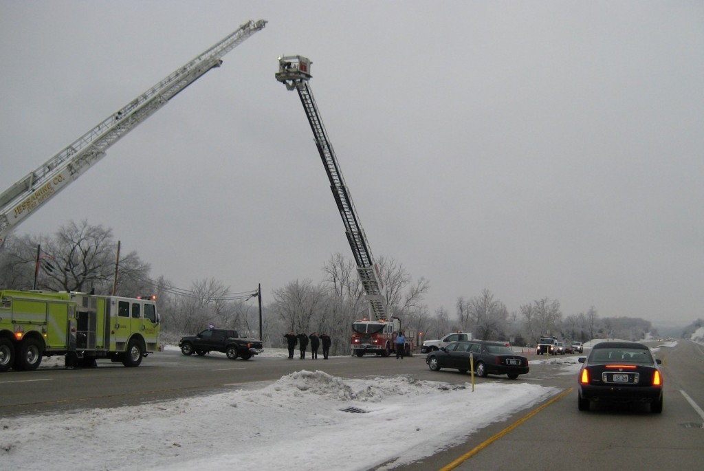 Paying final tribute to a WWII veteran and well-loved retired fire chief