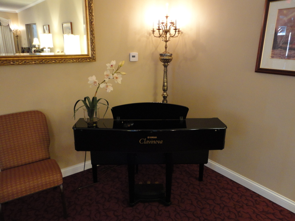 Clavinova available for live music during visitations, funerals, and memorial celebrations of life.