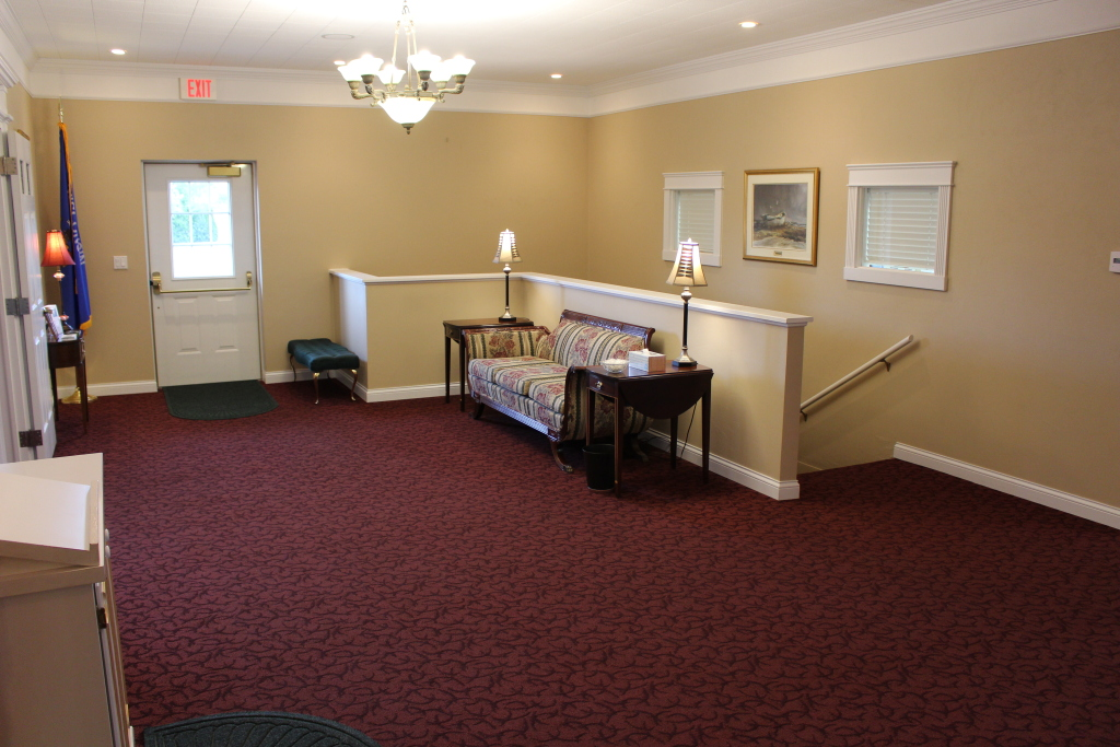 Our east entrance in our funeral home foyer.