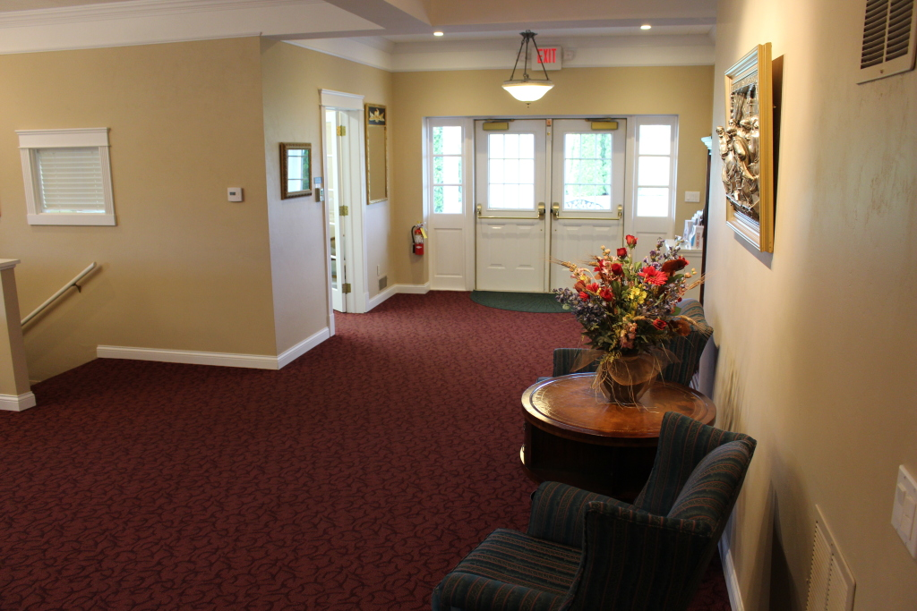 Our main Michigan Street entrance in our funeral home foyer.
