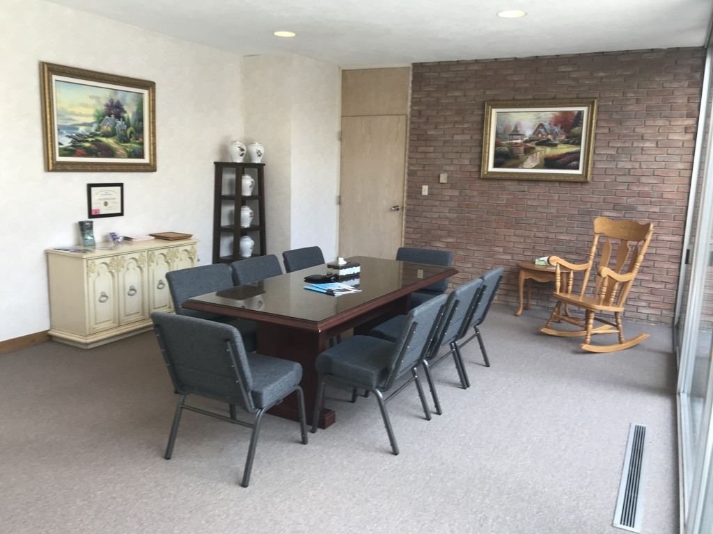 Our arrangement office where we will meet with your family to discuss how you wish to celebrate your loved one's life at the most affordable cost in Marion.....guaranteed