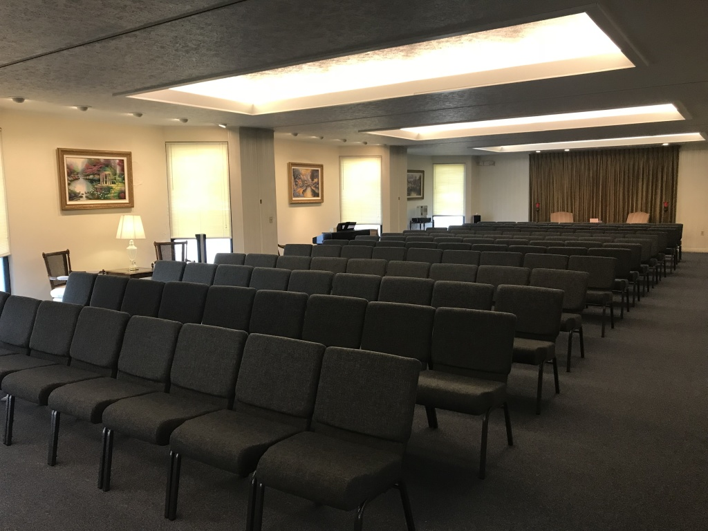 View of our main chapel, the largest seating capacity of any funeral home in Marion
