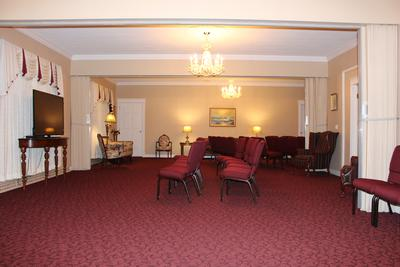Our West ChapelTribute Room available to families for visitations, funerals, and memorial celebrations of life.