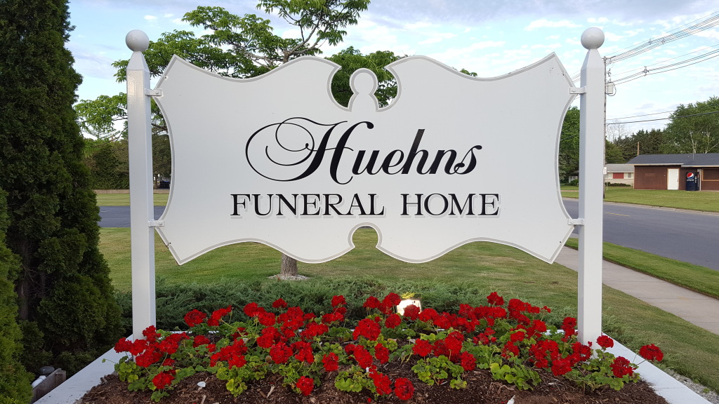 Huehns Funeral Home - sign viewable from Michigan Street