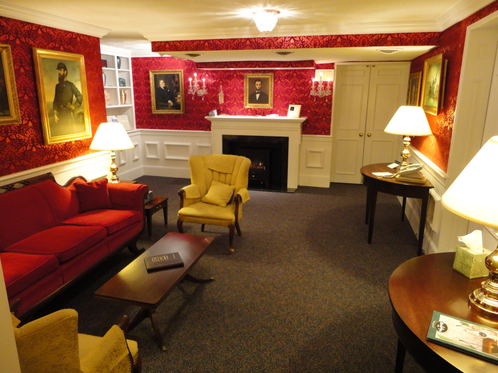 Our Red Room located just outside of the family lounge - with original decor and style.