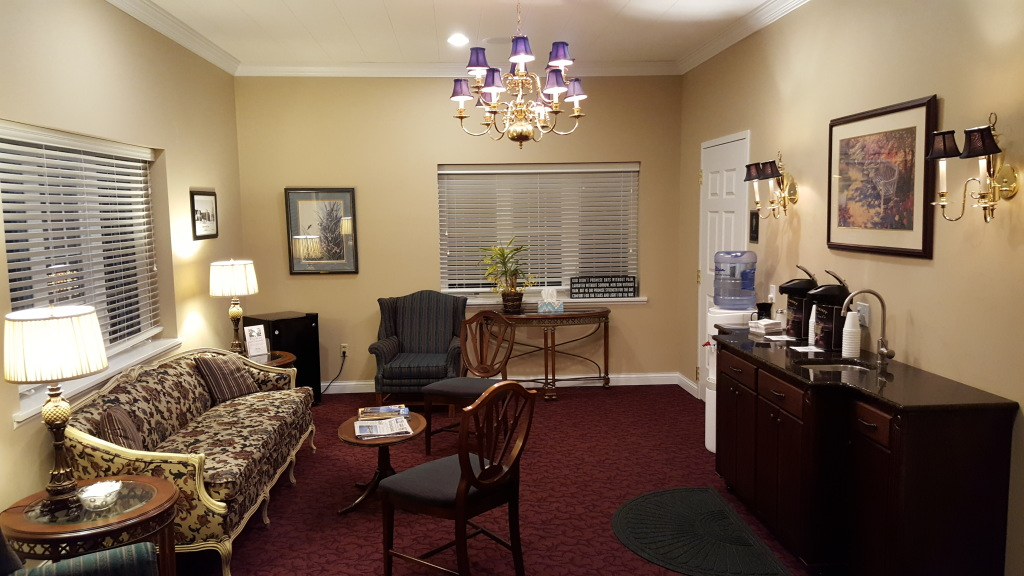 Our coffee lounge with handicap accessible restrooms available to the public.