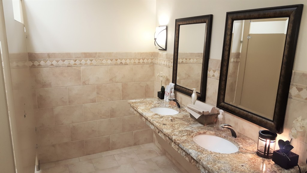 Our men's rest room facilities, just inside the (front) funeral home coffee lounge.