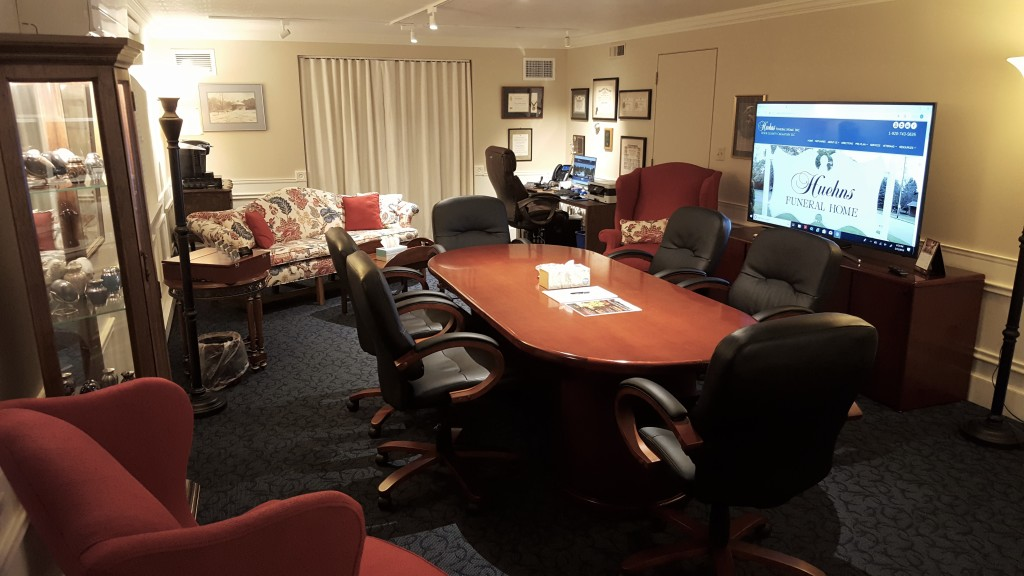 Our primary arrangement office offers a comfortable environment for families to visit with us about final care and service offerings for their loved one.