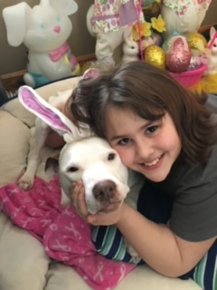 Daisy passed away in 2018. Her humans were Ray and Olivia and her first family who could not keep her.