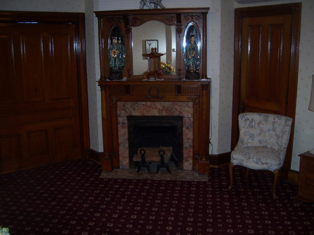 Our fireplace and family sitting room