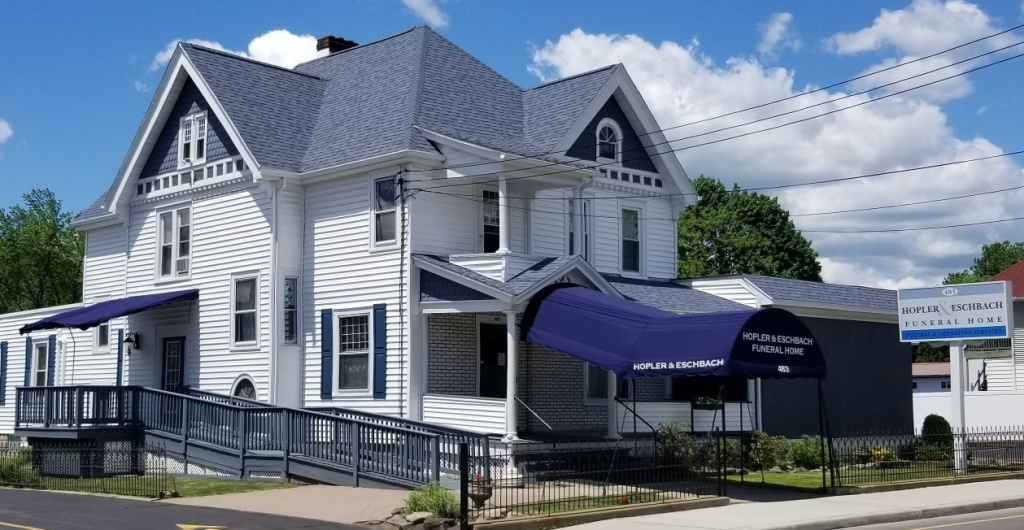 Our new look - new siding, awnings, roof and ramp - a complete top to bottom renovation of our exterior
