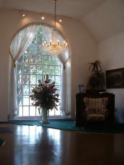 Custom built window from raw lumber by local carpenter and cabinet maker, George Price