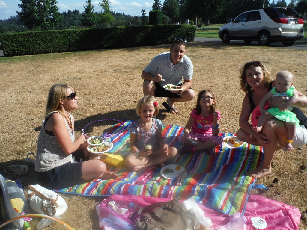 Kids add to the fun at a picnic