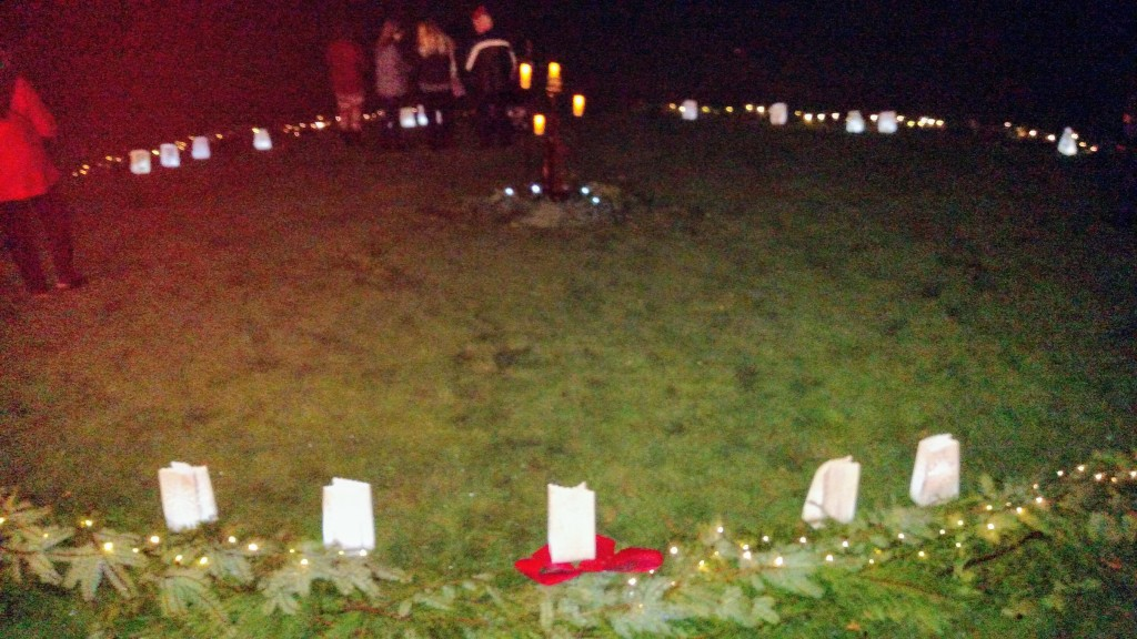Placing the Luminary Bags